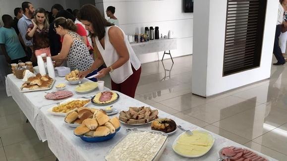 Café da manhã com funcionários da ABM (Doações ASGAP