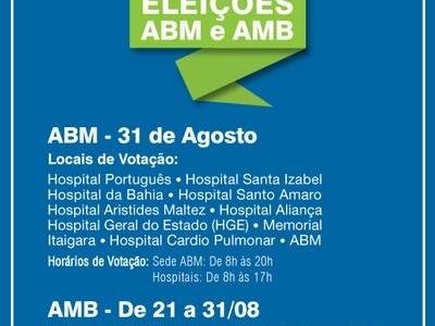 Eleições ABM e AMB. Conheça os locais de votação