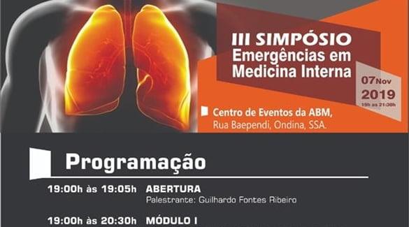 Inscrições abertas para o III Simpósio de Emergências em Medicina Interna!
