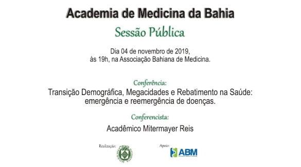 ABM sedia Sessão Pública da Academia de Medicina da Bahia