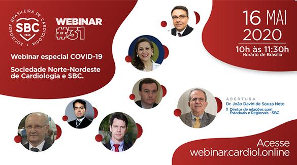 SBC em parceria com a Sociedade Norte-Nordeste de Cardiologia realizam webinar especial sobre a Covid-19