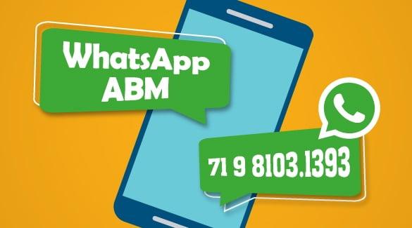 Inscreva-se na lista de transmissão do WhatsApp da ABM