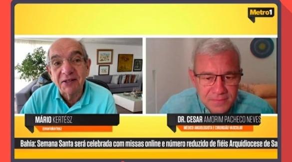 Assista à entrevista do presidente da ABM, Dr. César Amorim, na Rádio Metrópole