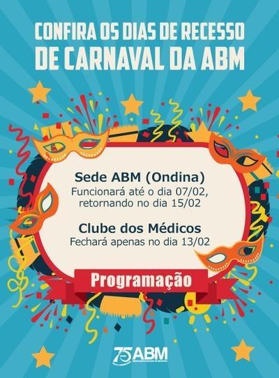 Recesso de Carnaval da ABM