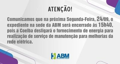 ABM Comunicado - Expediente do dia 24/09